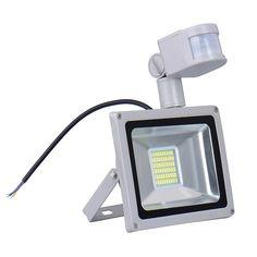 w lm led proyector de movimiento pir seguridad sensor reflector impermeable al aire libre proyector