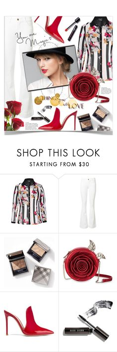 """""""The diva's lips👄"""" by ela79 ❤ liked on Polyvore featuring City Chic, J Brand, Burberry, Gianvito Rossi and Bobbi Brown Cosmetics"""