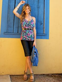 patterned colorful outfit