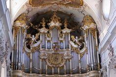 Amorbach, Abteikirche, Stumm-Orgel (Abbey Church, Stumm pipe organ)
