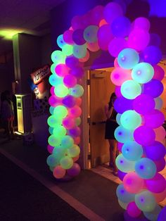 Image result for glow party balloon decor