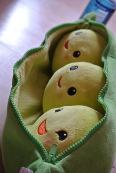 For a peas in a pod baby shower. Cute for one baby or triplets  Perry, Penelope, and Peatrice