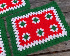 crochet christmas placemats - Google Search