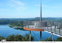 Ein Tagesausflug zum Biggesee im Sauerland - mit Aussichtsplattform Biggeblick, Schifffahrt über den Biggesee und Badevergnügen im Biggesee.