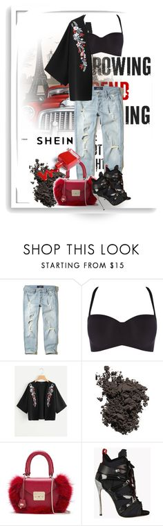 """don't think just go"" by tatarataratata ❤ liked on Polyvore featuring Hollister Co., Triumph, Laura Mercier, SALAR, Dsquared2 and Bomedo"