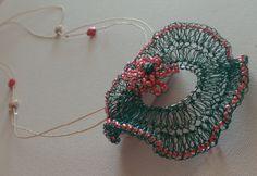 beautiful crochet pendant