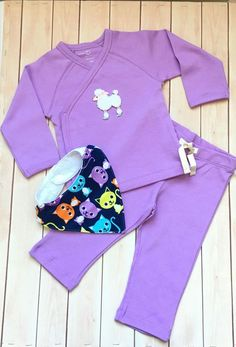 ORGANIC COTTON BABY OUTFIT/KIMONO TOP AND PANTS/HANDMADE GIFT/2 PC PURPLE  6-12M | Clothing, Shoes & Accessories, Baby & Toddler Clothing, Girls' Clothing (Newborn-5T) | eBay!