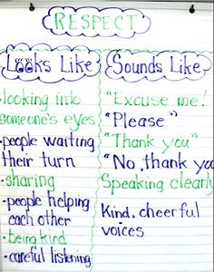 This website provides a lesson that I would teach to my students about respect. It was extremely helpful because it provides books to be read to students about respect. It also provides ideas on how to review what respect is with students as well as actives that go along with the lesson. It is a tool to use for all grade levels to be adapted to.