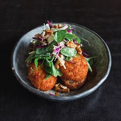 After being very popular this weekend the confit duck croquettes will return tomorrow as a special. Cheese and chive fillings served with rocket, walnut and orange salad with a slow poached egg on sourdough.