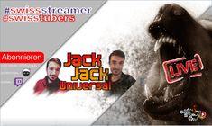JackJackUniversal Interview Live auf Twitch. Kanalvorstellung von Schweizer YouTuber und Streamer. Youtuber, Video Game, Interview, Live, Music, Movie Posters, Movies, Swiss Guard, Fiction