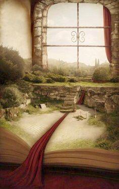 Les livres ouvrent des fenêtres pour un monde imaginaire !