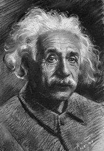 Drawing - Albert Einstein by Ylli Haruni