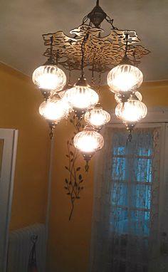 Chandelier Lamps Ottoman palace shape frame 9 glass