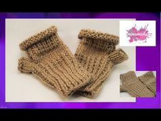 Como tejer mitones sin dedos//How to knit fingerless mittens. Fingerless Mittens, Knit Mittens, Crochet Baby, Knit Crochet, Hand Warmers, Unisex, Knitting, Youtube, Fingerless Mitts