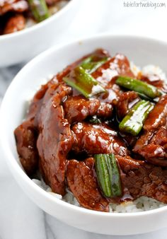 Take-Out, Fake-Out: Mongolian Beef - Table for Two