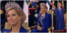 The Inauguration ceremony: Máxima opted for Dutch designer Jan Taminiau for her inauguration gown, and topped it all with the Mellerio Sapphire Tiara.  Stunning, just stunning!