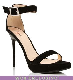 Black Strap Heels in size 7 1/2