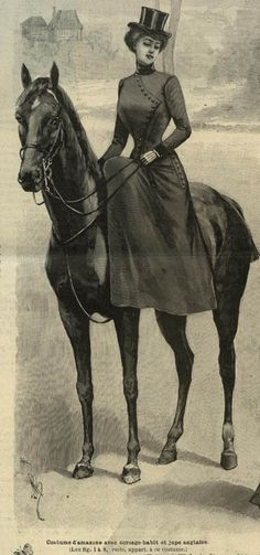 Amazone's costume (riders's suit in english?) end of 1890 et begining of 1900.