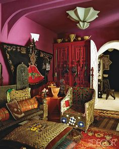 Lisa Bruce Eclectic Moroccan Home in Elle Decor