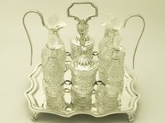Antique Cruet Set   Antique George III Sterling Silver and Cut Glass Cruet Set (1809London ...