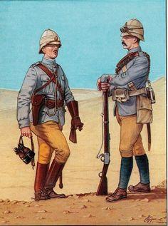 Officer & Trooper Camel Corps 1884