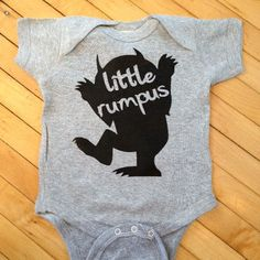 Cute Where The Wild Things Are Little Rumpus Baby Onesuit- Pick Your Color. Pick Your Size.