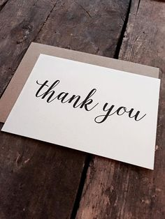Modern Calligraphy Thank You Cards with by PontoMountainPaper