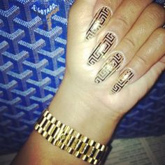 <3 versace nails LOVE