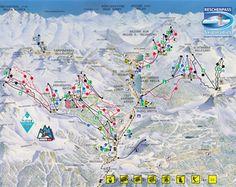 Pistenplan Skiparadies Schöneben