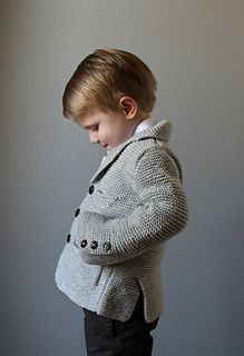 Knitting Patterns Boy A handsome jacket for any little gentleman! Knit in squishy Garter stitch, this jacket is complete w… Knitting Patterns Boys, Knitting For Kids, Pdf Sewing Patterns, Point Mousse, Baby Cardigan, Garter Stitch, Little Gentleman, Dapper, Jackets