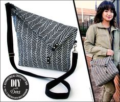 Asymmetrical Crossbody Bag: Dritz Hardware | Sew4Home