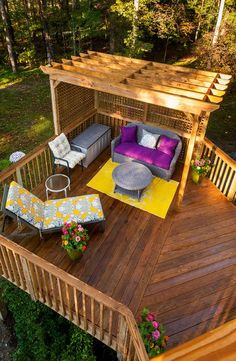 20 Timber Decking Designs that can Append Beauty of your Homes - Gartengestaltung Diy Pergola, Diy Deck, Pergola Ideas, Pergola Roof, Cheap Pergola, Pergola Shade, Pallet Pergola, Deck Shade, Metal Pergola