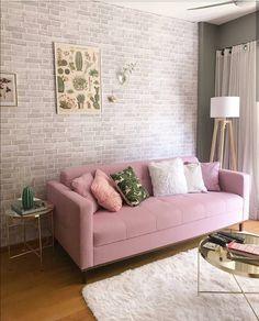 Interior Design For Living Room Home Living Room, Living Room Decor, Bedroom Decor, Interior Design Living Room, Living Room Designs, Rosa Sofa, Beautiful Living Rooms, Home Fashion, Room Inspiration