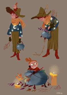 where the harvest fills the stars Pretty Art, Cute Art, Character Concept, Character Art, Character Illustration, Illustration Art, Illustrations, Les Moomins, Tove Jansson