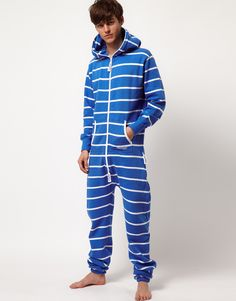 Ciaoooo! La voglio subito! [$186.62] -  All in one by OnePiece. Constructed in fleece lined cotton jersey. Featuring a contrast stripe design with a hooded neck and double zipped front fastening, a split pouch pocket, full length sleeves with rib knit cuffs and a relaxed fit.