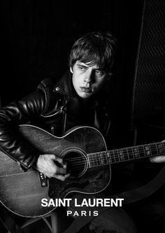 ROCK n ROLL II - Jake Bugg for Saint Laurent with #Gibson Guitar and Leather Biker Jacket