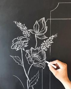 (notitle) - Drawing - HoMe Chalkboard Doodles, Blackboard Art, Chalkboard Drawings, Chalkboard Designs, Chalk Drawings, Art Drawings, Chalkboard Ideas, Chalk Art Quotes, Black Paper Drawing