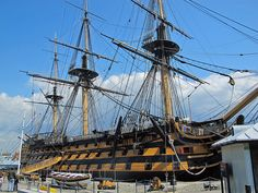 The British navy's oldest ship still in commission. Launched in 1765 when King George 111 was on the throne. by maggie jones., via Flickr