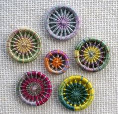 These are samples of Dorset Buttons I have worked using traditional and modern techniques. I have used a mix of vintage and contemporary threads. For details of each button just click on the image to...
