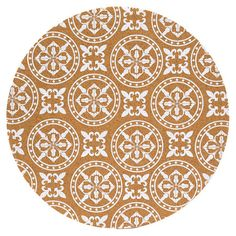 Circle Cork Placemat with White Print.
