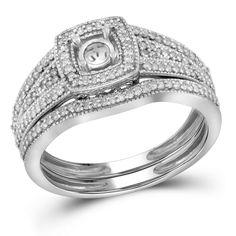 1-3CTW-Diamond SEMI-MOUNT BRIDAL SET