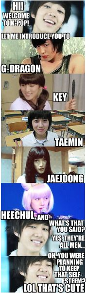 Beast, Big Bang, SHINee, JYJ, Super Junior ^^ ;) haahah they look sexy even when they dress up as girls ;)