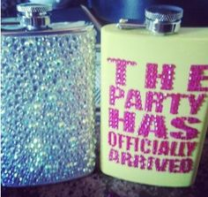 Bedazzled flask