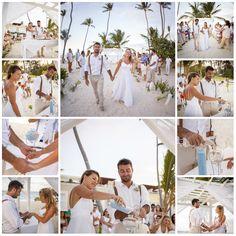 Gorgeous beach wedding celebration in Punta Cana, December 4th, 2016. Waves of Love package designed by renowned wedding planner Karen Bussen.  Photography by Junior Cruz #PuntaCana #Noda #Wedding