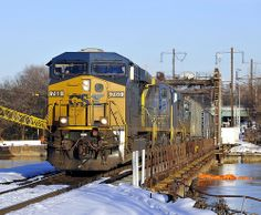 CSX Q405 crosses the Anacostia River and enters Washington, DC on 23 December 2009.   Flickr - Photo Sharing!