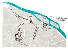 """My Little Paris """"Les Parisiens"""" expo en plein air map."""