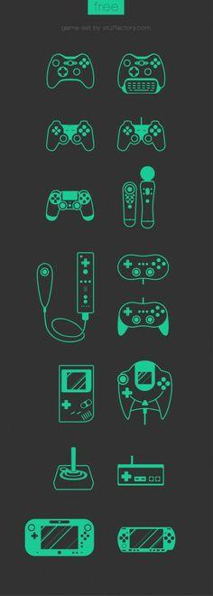 Free Game Set Icon PSD