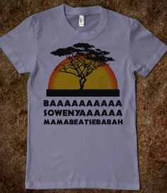 Lion King Shirt. One of the single best graphic T's I've seen.
