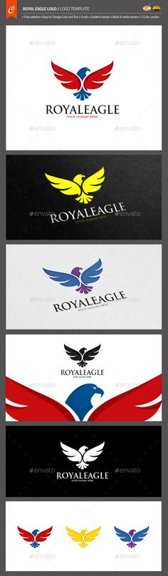 Royal Eagle Logo — AI Illustrator #predator #management • Available here → https://graphicriver.net/item/royal-eagle-logo/11525743?ref=pxcr