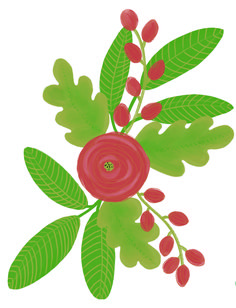 Illustration Ilva B Blumenmuster loretta cosima Plant Leaves, Illustration, Plants, Floral Patterns, Nice Asses, Illustrations, Plant, Planets